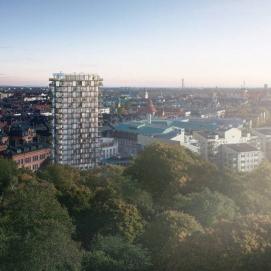 Det nya tornet blir 19 våningar högt med 90 lägenheter